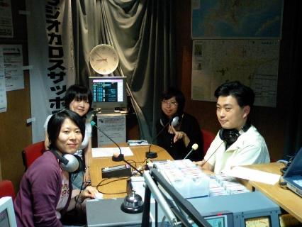 ラジオ西線伏見第8回スタジオの様子